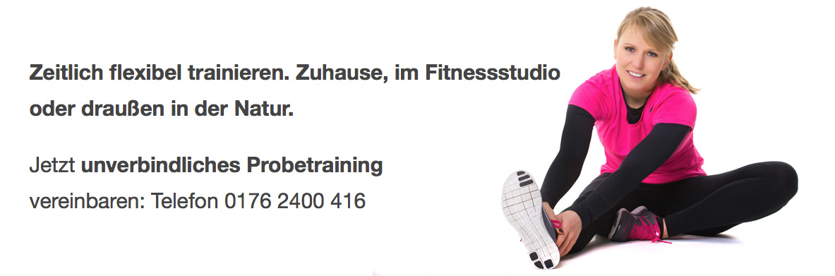 Zeitlich flexibel trainieren.